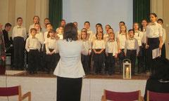 """Der Kinderchor aus Wien sang für den Elternverein """"Das behinderte Kind"""". Foto: zVg"""