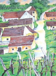 Motive von Edith Hosp - zwischen Kellergasse und Hausgarten. Foto: zVg.