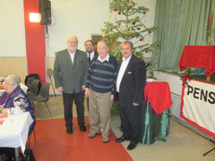 V.l.n.r.: ARBÖ-Obmann Alfred Seif, GR Mag. Klaus Bergmaier, Ehrenvorsitzender a.D. Georg Kriz, Obmann Stadtrat Alfred Scheichel. Foto: zVg