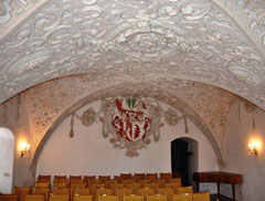 Der Wappensaal im Schloss Lauenstein