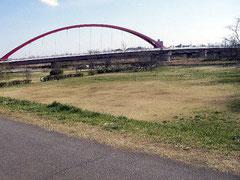 多摩川 多摩大橋上流左岸 自由広場