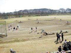 多摩川河川敷 野球場