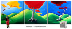 Click Here to view Huge Commission Paintings