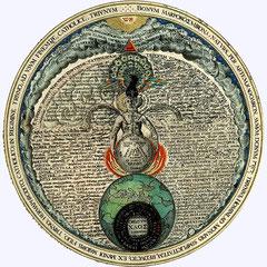 Zeichnung (Hermaphrodit) aus: Heinrich Khunrath: Amphitheatrum sapientiae aeternae (Hamburg, 1595).