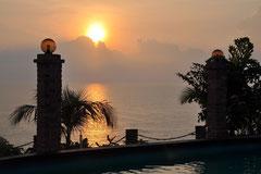 Sonnenaufgang beim Tanjung Sutera Resort