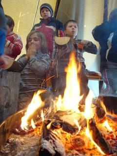Glut brennen in der Gruppe