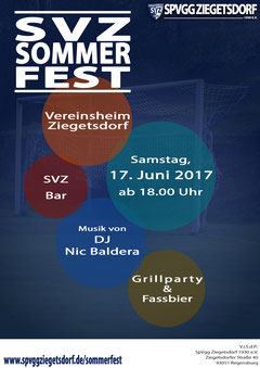 Flyer des SVZ-Sommerfests 2017