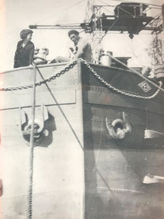 Ci-dessus les parents d'Alain Huguet issus de familles de marins bretons.