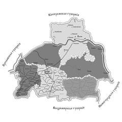 Проектная карта границ Иваново-Вознесенской губернии