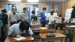 ロシアンBに挑戦する塾生たち