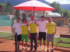 Patrick, Simon, Adam, Björn und Gerd