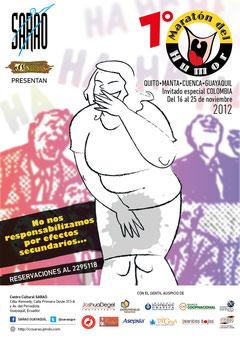 Afiche del 7mo. Maratón del Humor. Diseño: Eduardo Correa