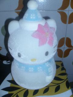Hello Kitty pupazzo di neve