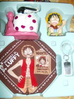 One Piece porta cellulare da scrivania con auricolare