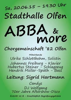 Werbeplakat zur Revue ABBA & more - HPD