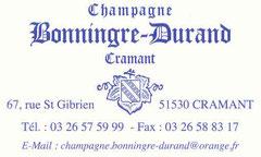 Le champagne Bonningre-Durand