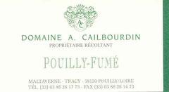 Pouilly-Fumé, domaine Alain Cailbourdin