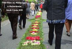 Fête Dieu à Heitersheim (Allemagne)