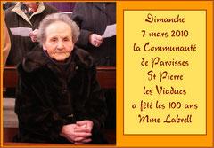Les cent ans de Mme Labrell