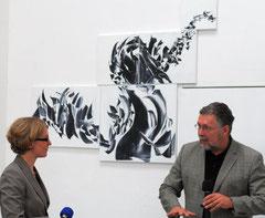 Im Gespräch mit Hans Robert Schöler. Foto: Hermann Dornhege