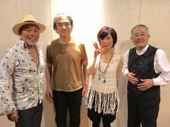 左から古澤巌さん、吉野弘志さん、裕さん、山下洋輔さん