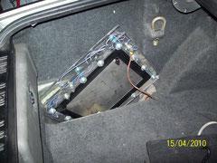 Instalación en maletero.