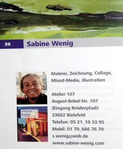 Sabine Wenig: Offenes Atelier in Bielefeld