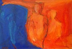 Konferenz, Öl auf Leinwand, 1999, 75x110 cm