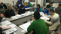 みんなで勉強中。