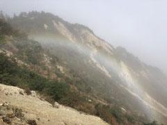 野谷荘司三方岩19 虹がうっすらとかかっていました。
