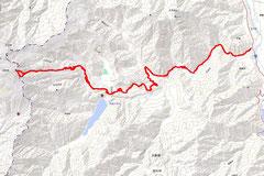 往復45.1km累積標高差2082m、所要時間13時間37分。