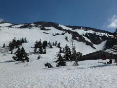快晴の一日、山スキーで白山へ。