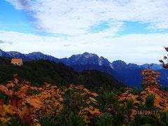 剱岳と種池山荘