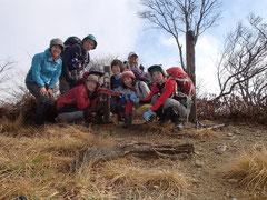 湖北 武奈ケ嶽山頂 865m