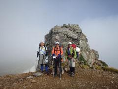 化雲岳にて後、Kは天人峡へ下山。