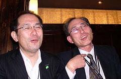 出来あがってご機嫌の青木、渕田両会員