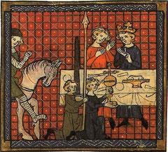 Enluminure de Perceval ou le conte de Graal, de Chrétien de Troyes