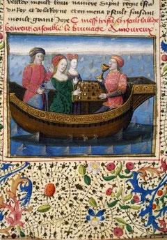 Extrait du manuscrit de Tristan et Yseut
