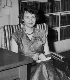 1952 at the autograph party for Flannery's novel, Wise Blood,