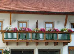 Balkon der FeWo Naderhirn in Wegscheid