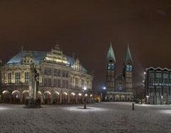 Panorama Marktplatz Bremen