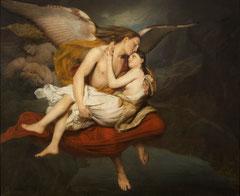 François-Édouard Cibot, Les Amours des anges au moment du déluge, huile sur toile, 1834, musée des beaux-arts de Brest