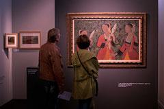 Vue de l'exposition Les peintres de Pont-Aven du musée de Brest. © Mathieu Le Gall.
