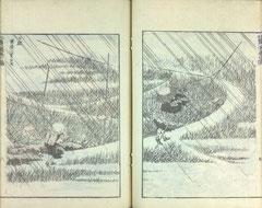 Katsushika Hokusai, La Manga, volume 7. Musée des beaux-arts de Brest.