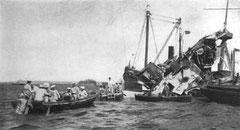 L'épave du Maine en 1898