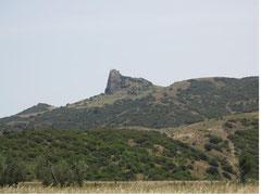 Tempa Petrolla dalla valle del Cavone