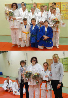 Link Viktoriya, rechts Sophia mit ihrer Trainingskolleginnen/kollegen
