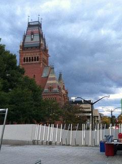 ハーバード大学の講堂。このような立派な建物が複数ある