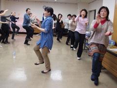 第1回さんさ踊り練習会の様子