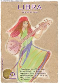 Postkarte Libra